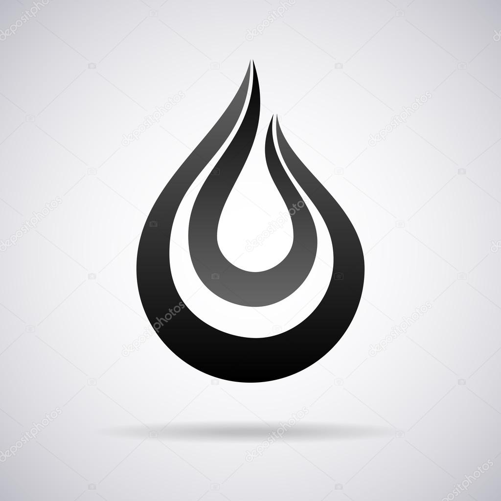 Vector water drop logo. Design template