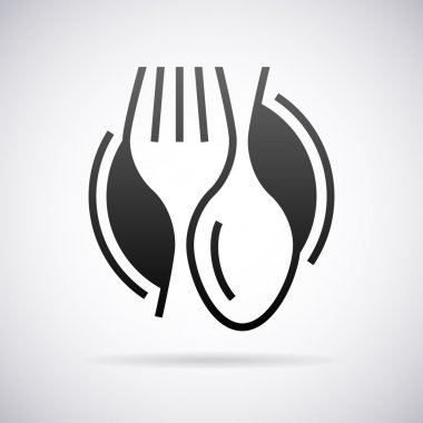 Vector food service logo.Design template