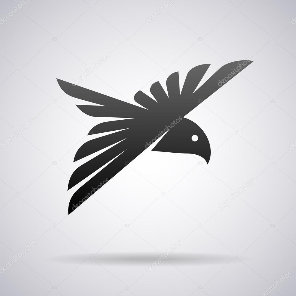 flying bird vector logo design template stock vector alisher