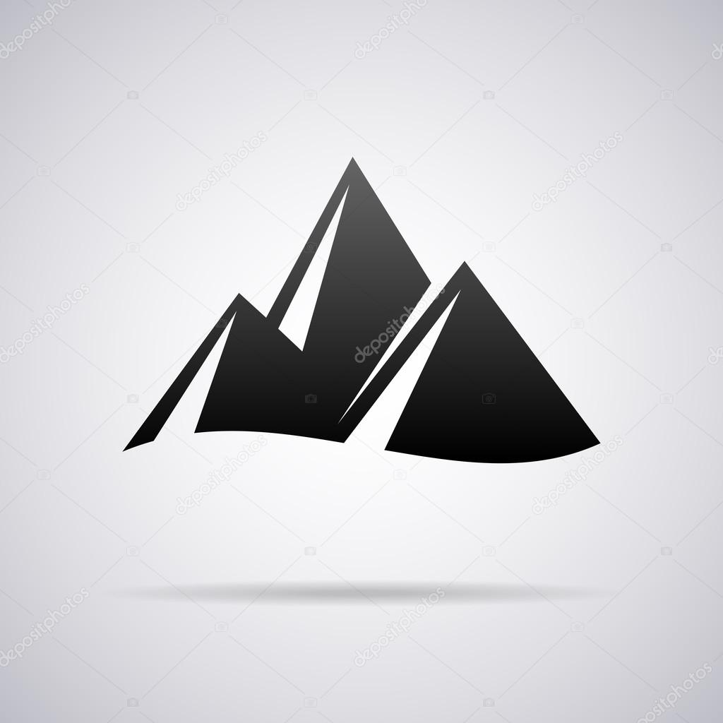 Vector mountains logo. Design template