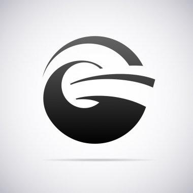 Vector logo for letter G. Design template