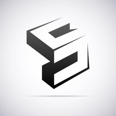 Vector logo for letter S. Design template