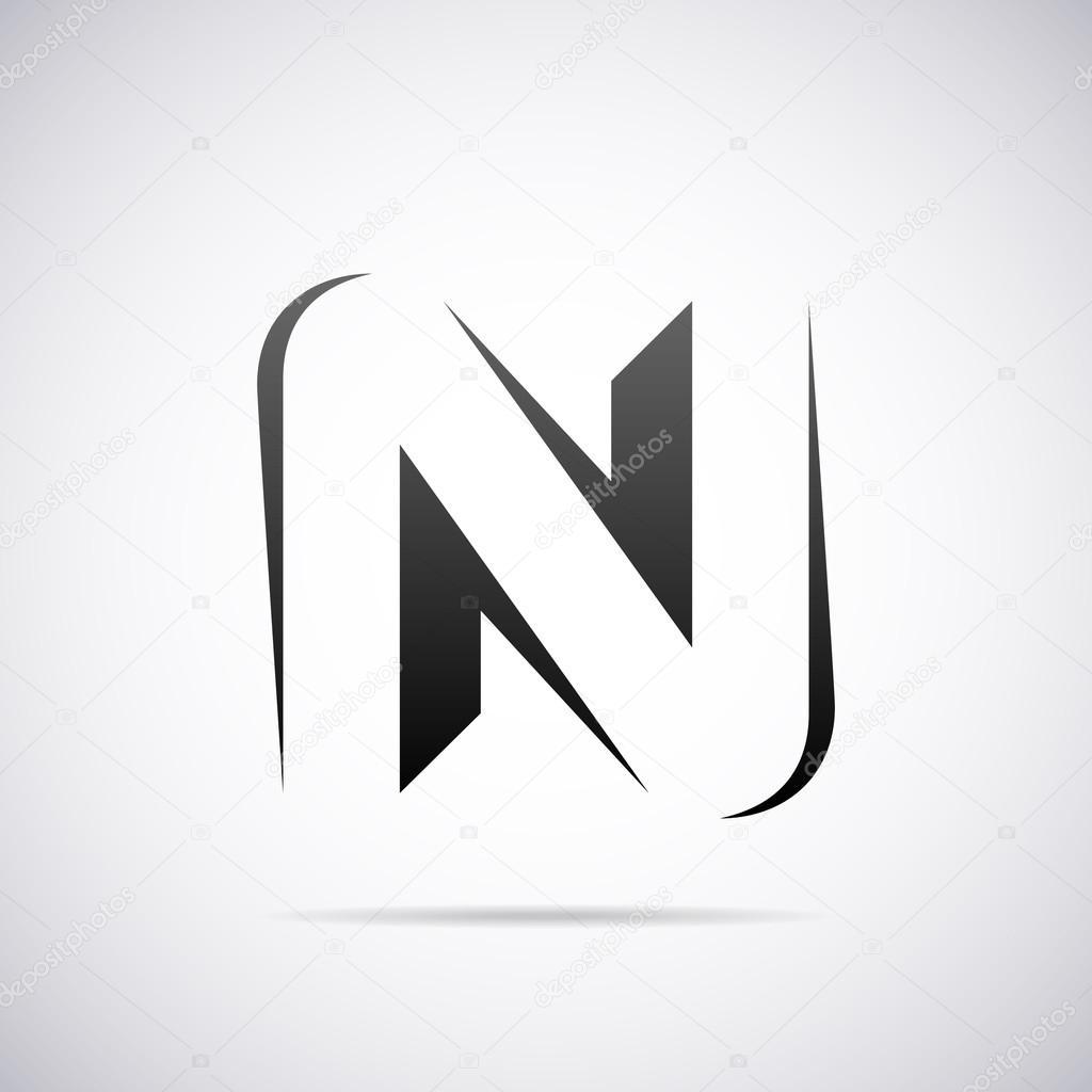 logo for letter n design template vector illustration vector by alisher