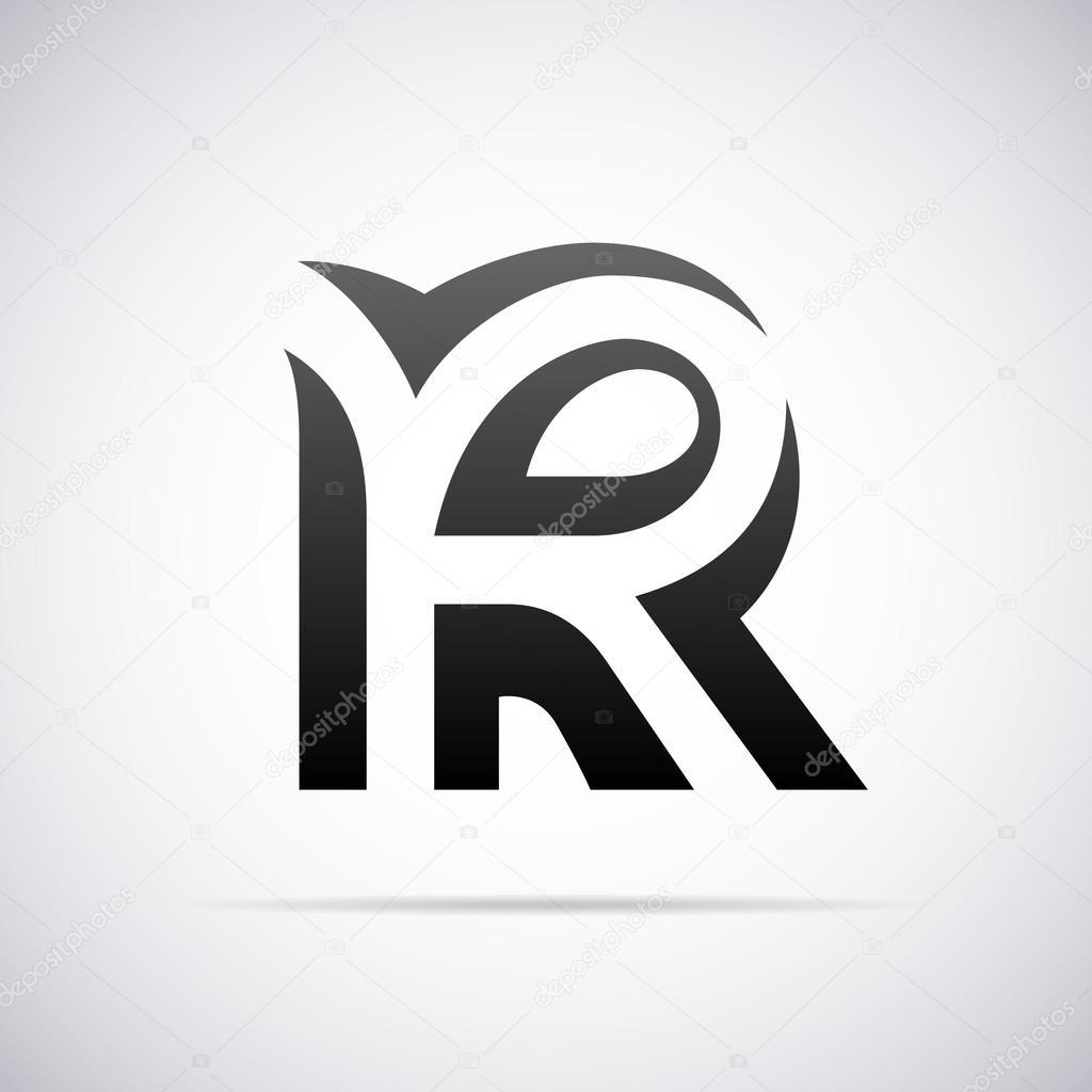 Logo For Letter R Design Template Vector Illustration By Alisher
