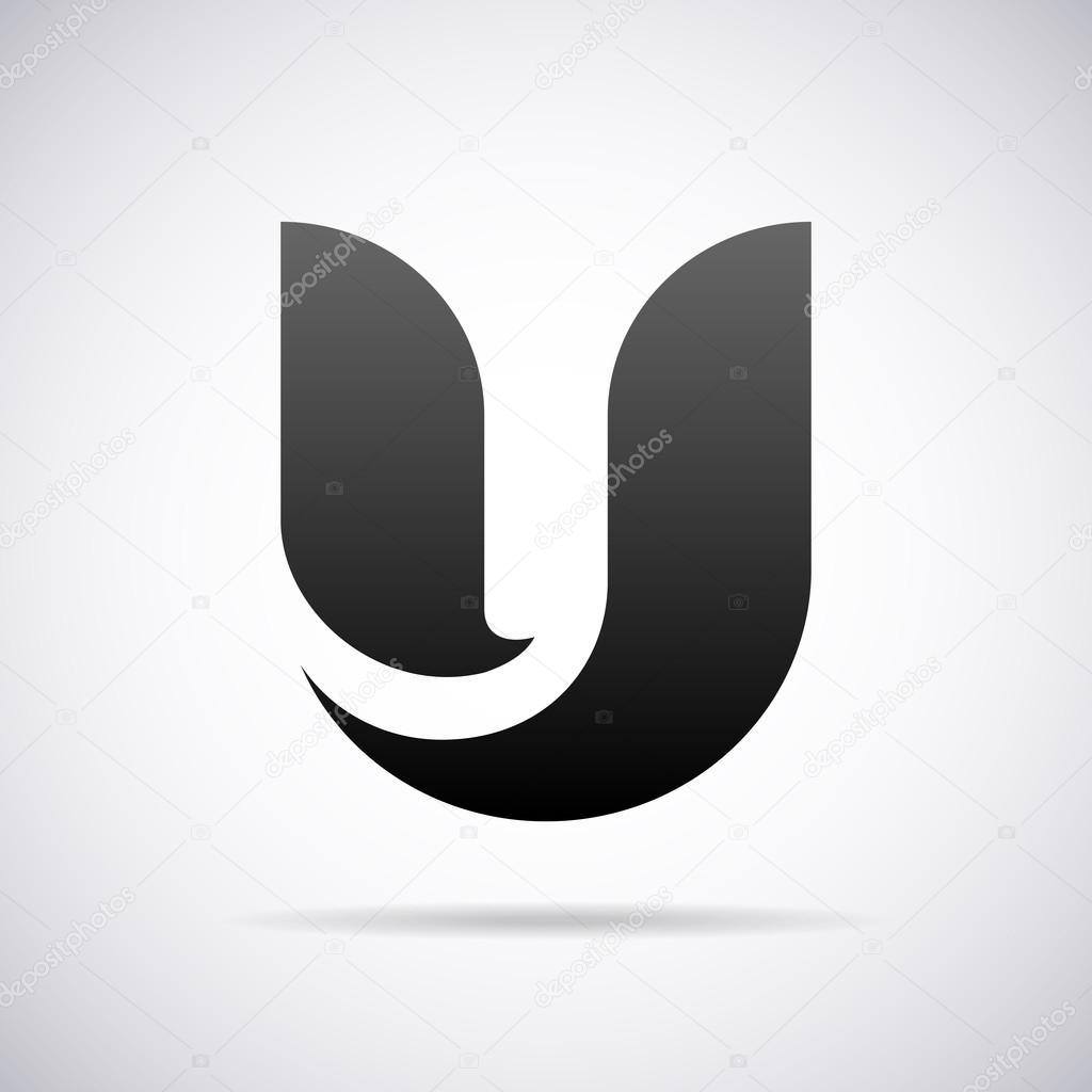 Vector Logo For Letter U Design Template Stock Vector C Alisher