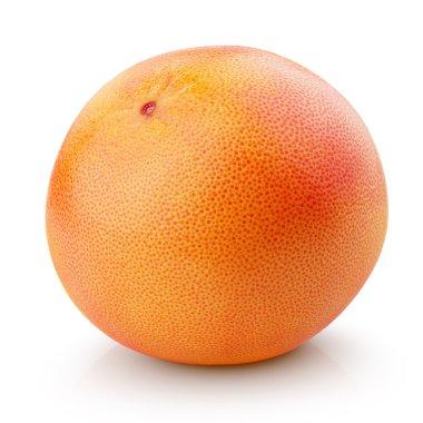Ripe grapefruit citrus fruit isolated on white