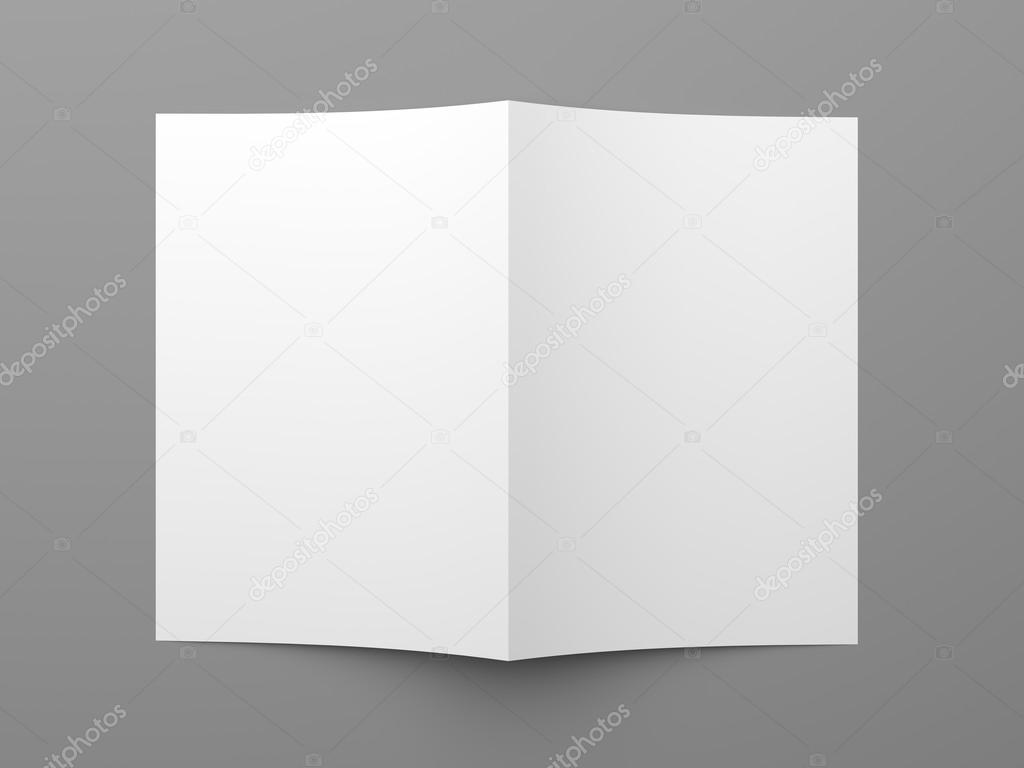 blank folded flyer booklet business card or brochure stock photo