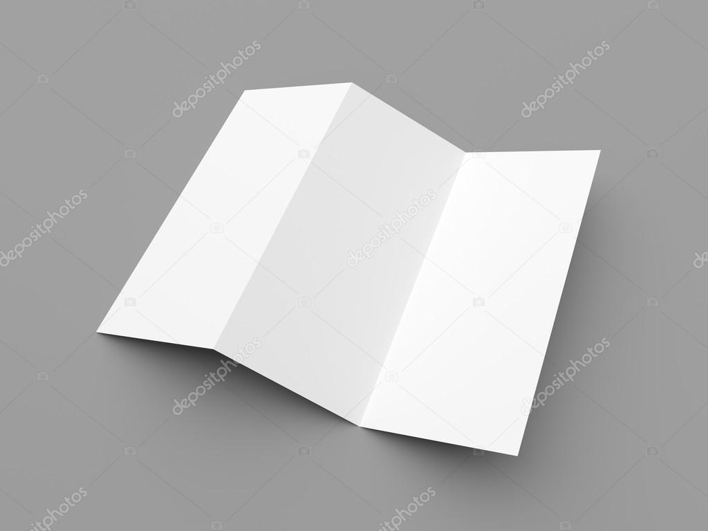 Merkblatt blank zigzag-fold Whitepaper-Broschüre — Stockfoto ...