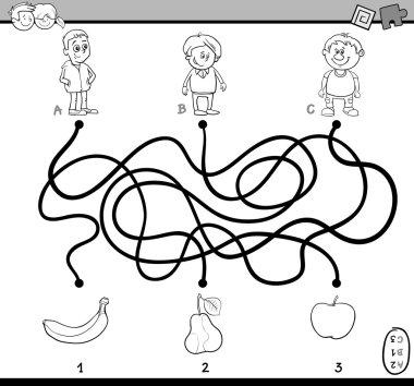 path maze task coloring book