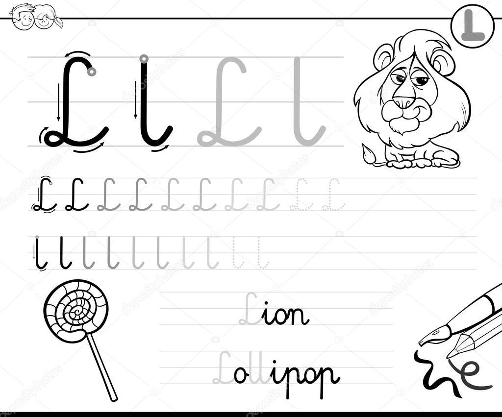 Imágenes Letra L Ilustrada Aprende A Escribir La Letra L Vector