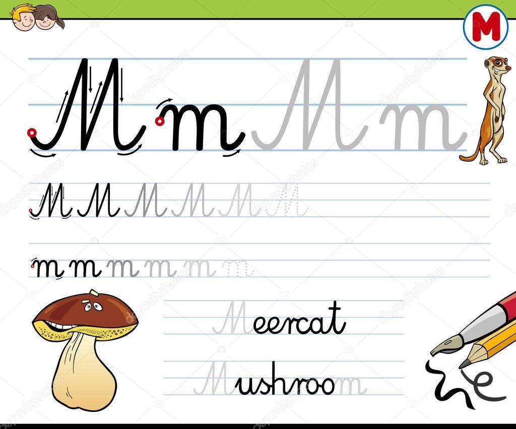 Gewusst wie: Schreiben von Buchstaben m — Stockvektor © izakowski ...
