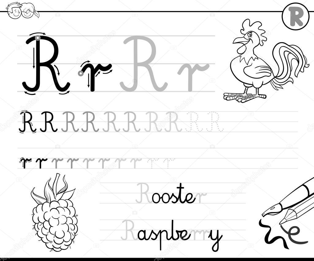 Naucz Się Pisać Literę R Grafika Wektorowa Izakowski 115880416