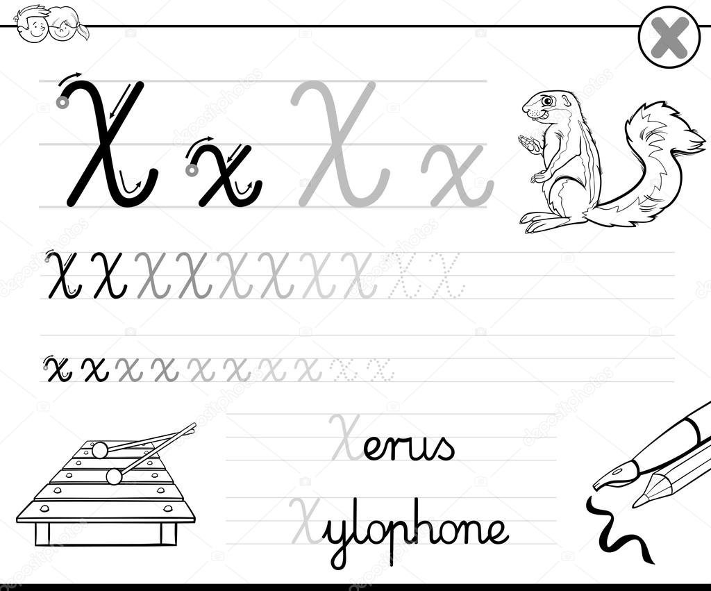 lernen, schreiben x — Stockvektor © izakowski #116082760
