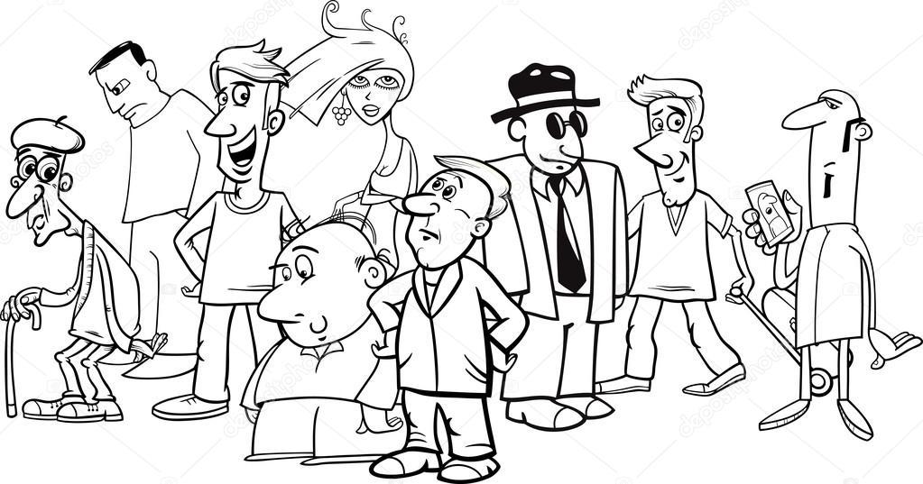 Cartoon People Crowd 图库矢量图像 169 Izakowski 116622296