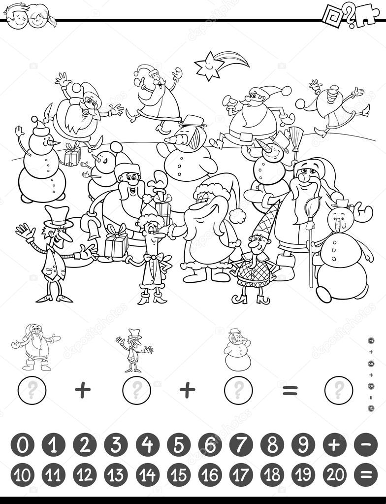 Matematik Için Boyama Oyunu Stok Vektör Izakowski 117772644