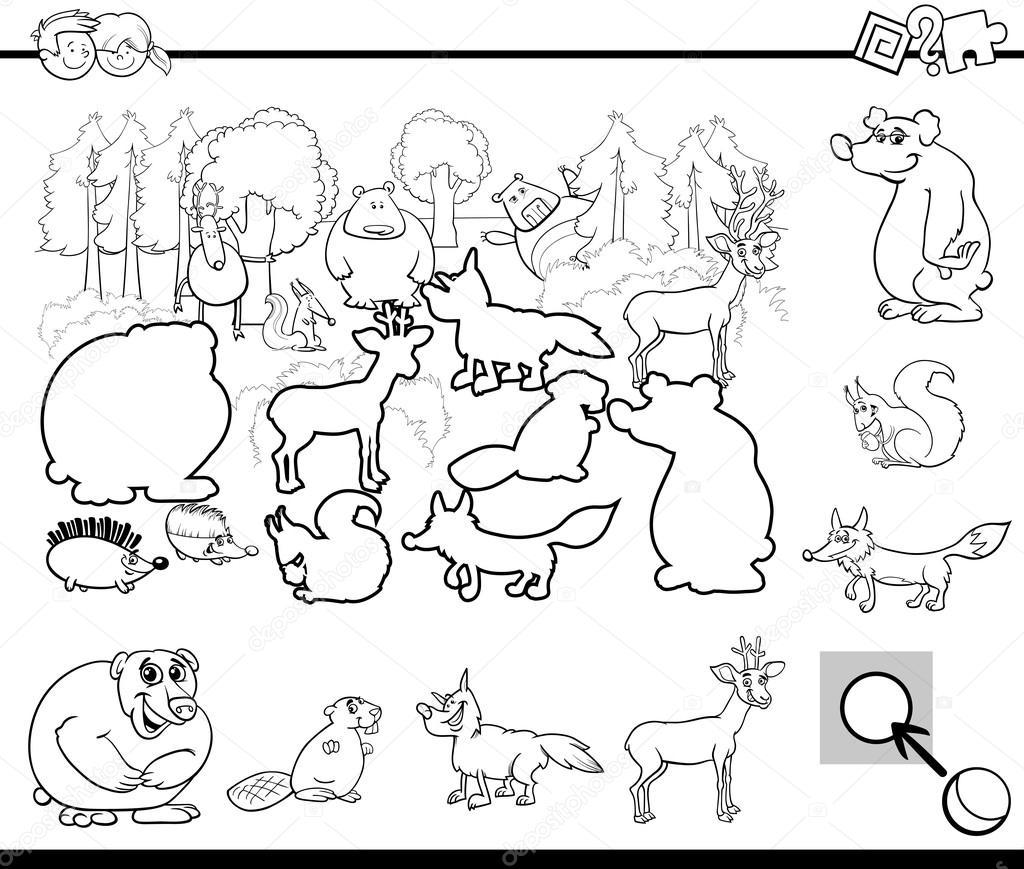 Dibujos Animales Salvajes Para Niños De Preescolar