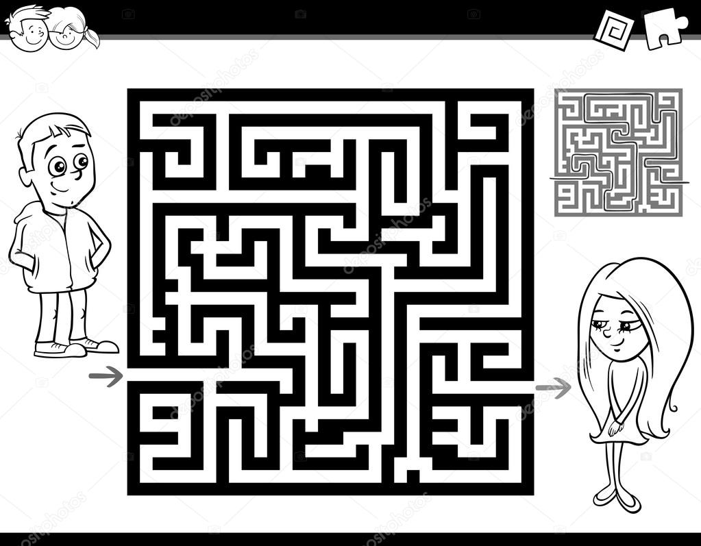 Irrgarten oder Labyrinth Malvorlagen — Stockvektor © izakowski ...