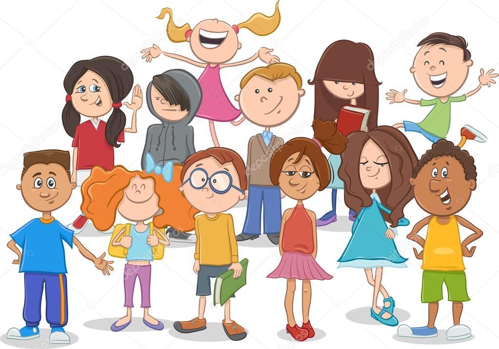 Dibujos De Grupo De Niños O Adolescentes