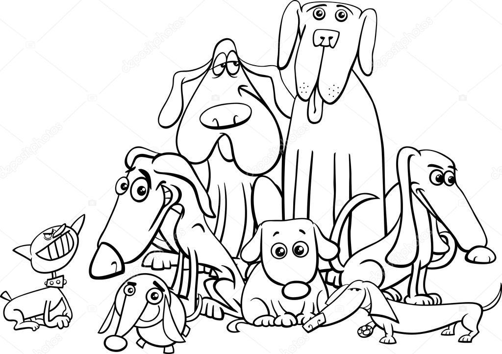 Malvorlagen Hund Zeichen Stockvektor Izakowski 122883880