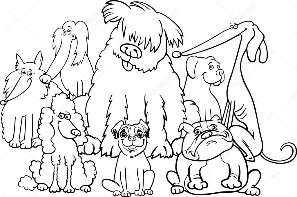 純血種犬の塗り絵の本 ストックベクター Izakowski 122884004