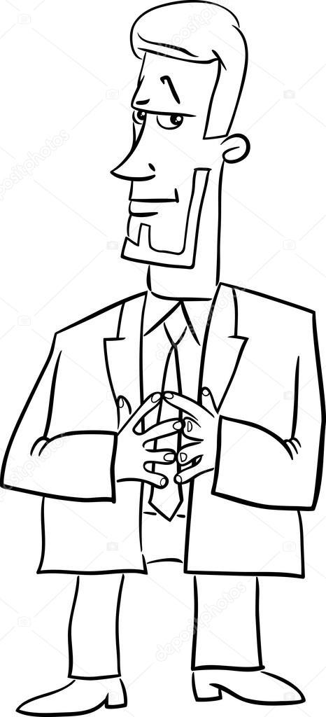 Animado: jefe para colorear   dibujos animados de Director de jefe ...