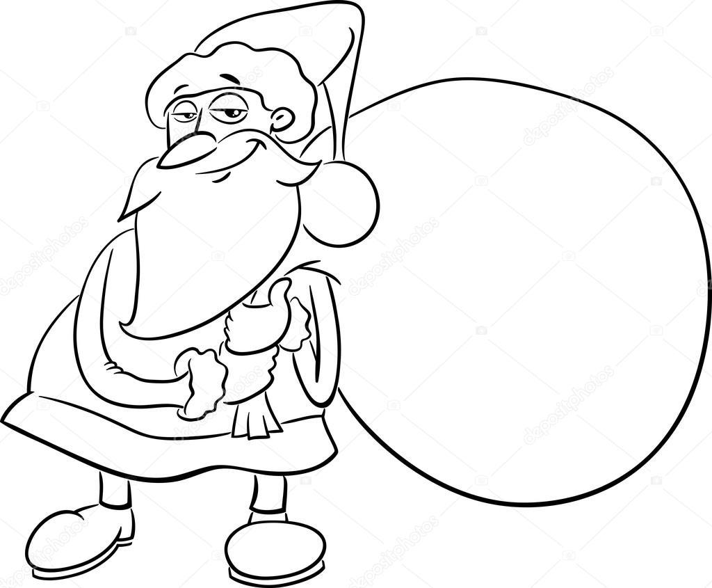 Libro Para Colorear De Santa Claus Archivo Imágenes Vectoriales