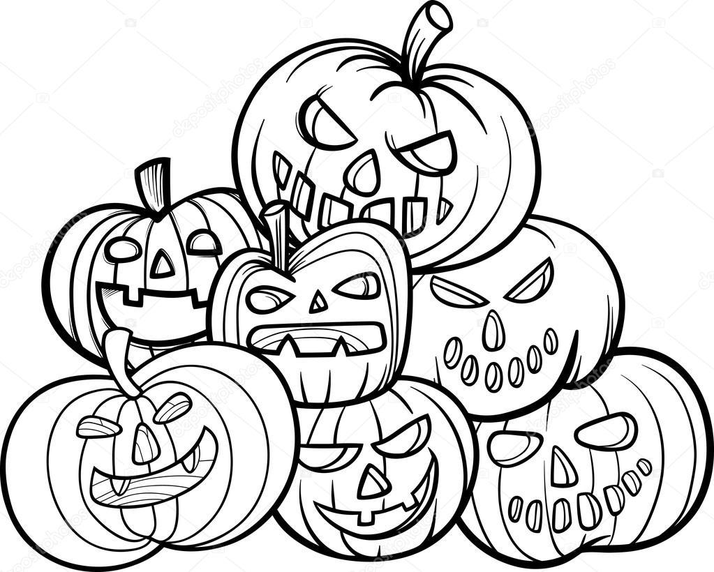Zucca Halloween Da Colorare: Dynie Halloween Kolorowanki Książki
