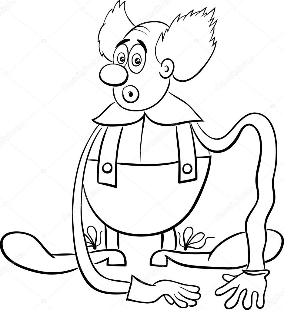 Circus Clown Coloring Page Stock Vector C Izakowski 124170700
