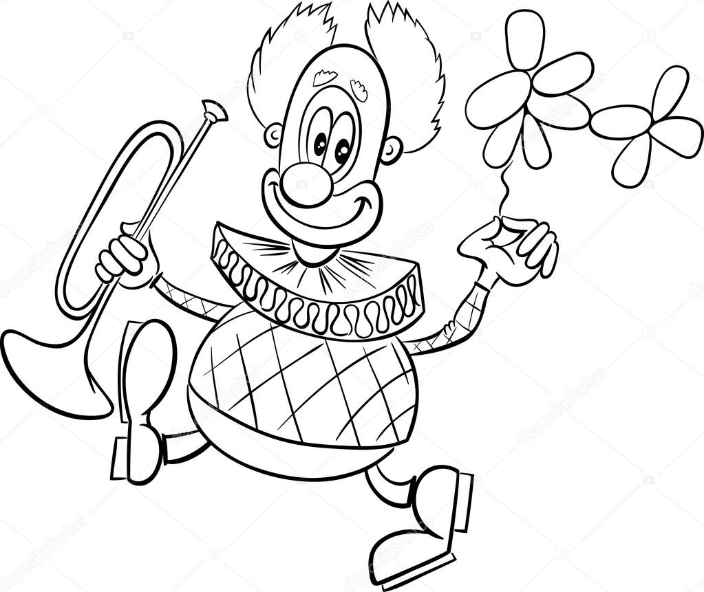 Grappige Clown Kleurplaat Stockvector C Izakowski 124170754