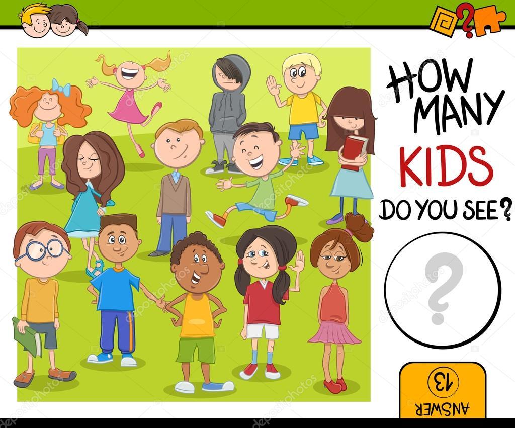 12eec31af Kolik hra activity děti — Stock Vektor © izakowski #124529744