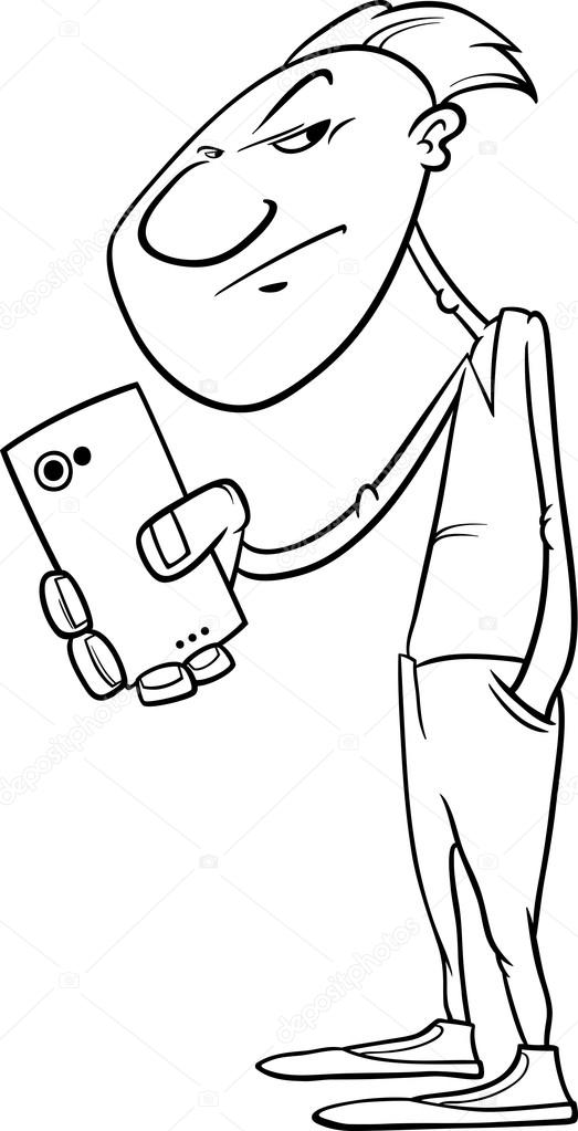 Smartphone Coloring Page - Coloring Pages Ideas