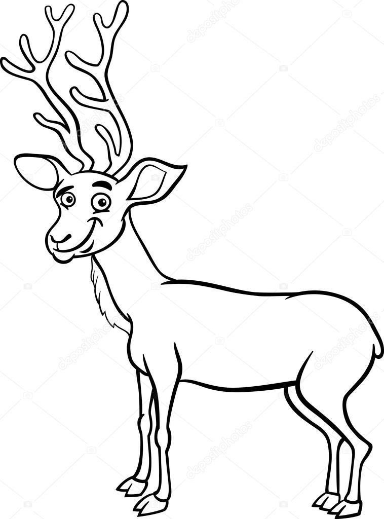 Coloriage de dessin anim cerf wapiti image vectorielle izakowski 52490953 - Coloriage de cerf ...