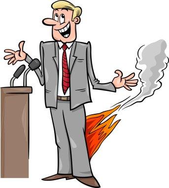 pants on fire saying cartoon