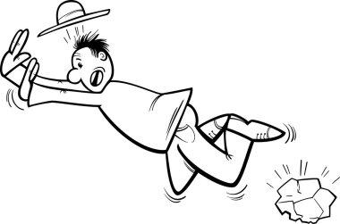 stumbling man coloring page