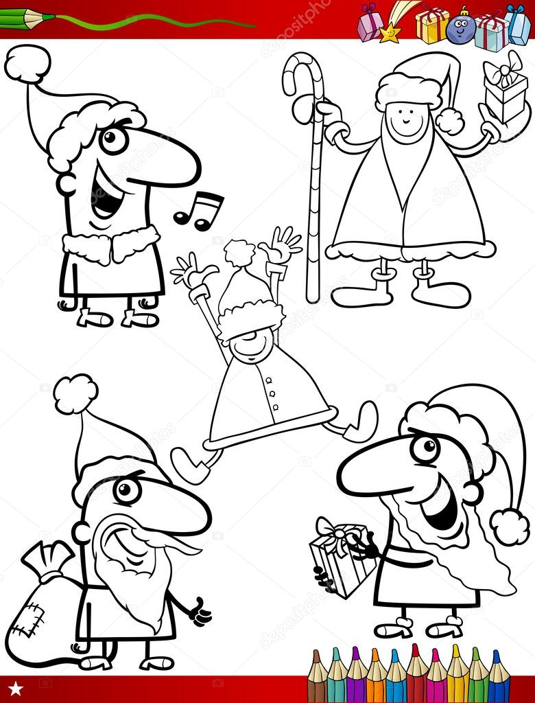 Thema S Van Kerstmis Kleurplaten Pagina Stockvector C Izakowski