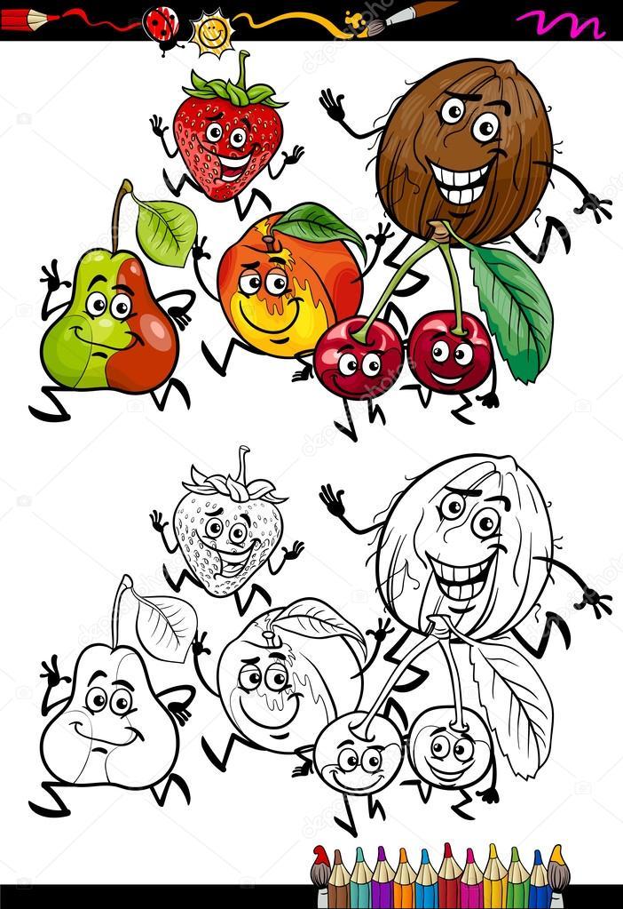 Imagenes Grupo De Manzanas Para Colorear Dibujos Animados Para