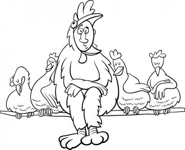 ruler of the roost saying coloring page