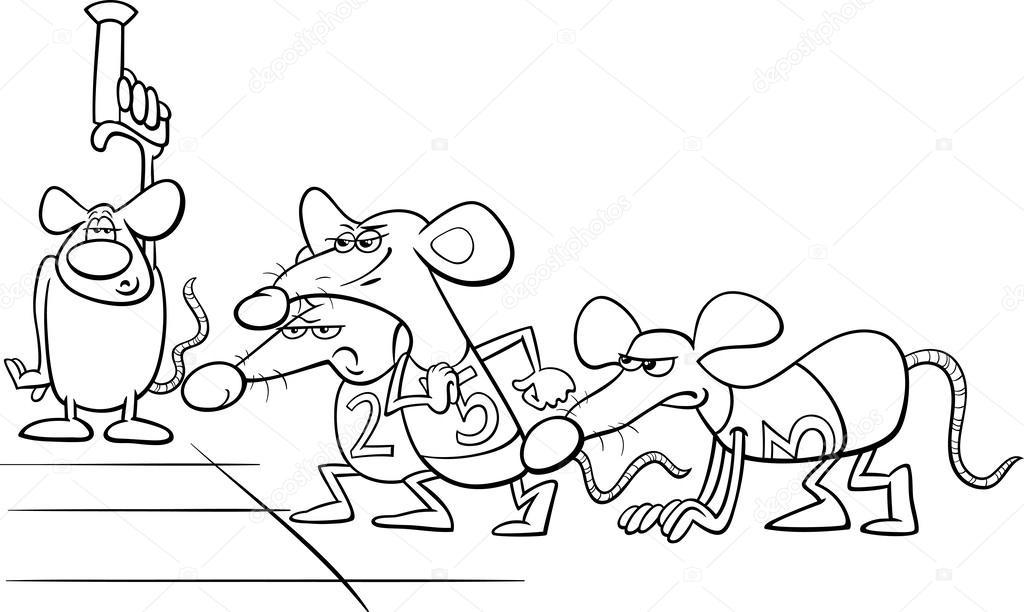 Libro De Colorear De Dibujos Animados De Ratas A La
