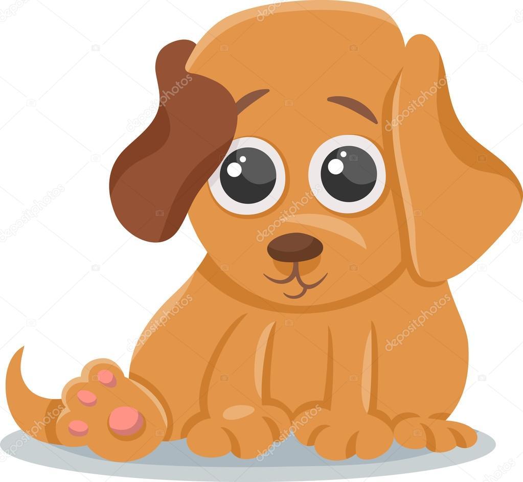 Ilustración bebé perro cachorro dibujos animados — Archivo Imágenes ...