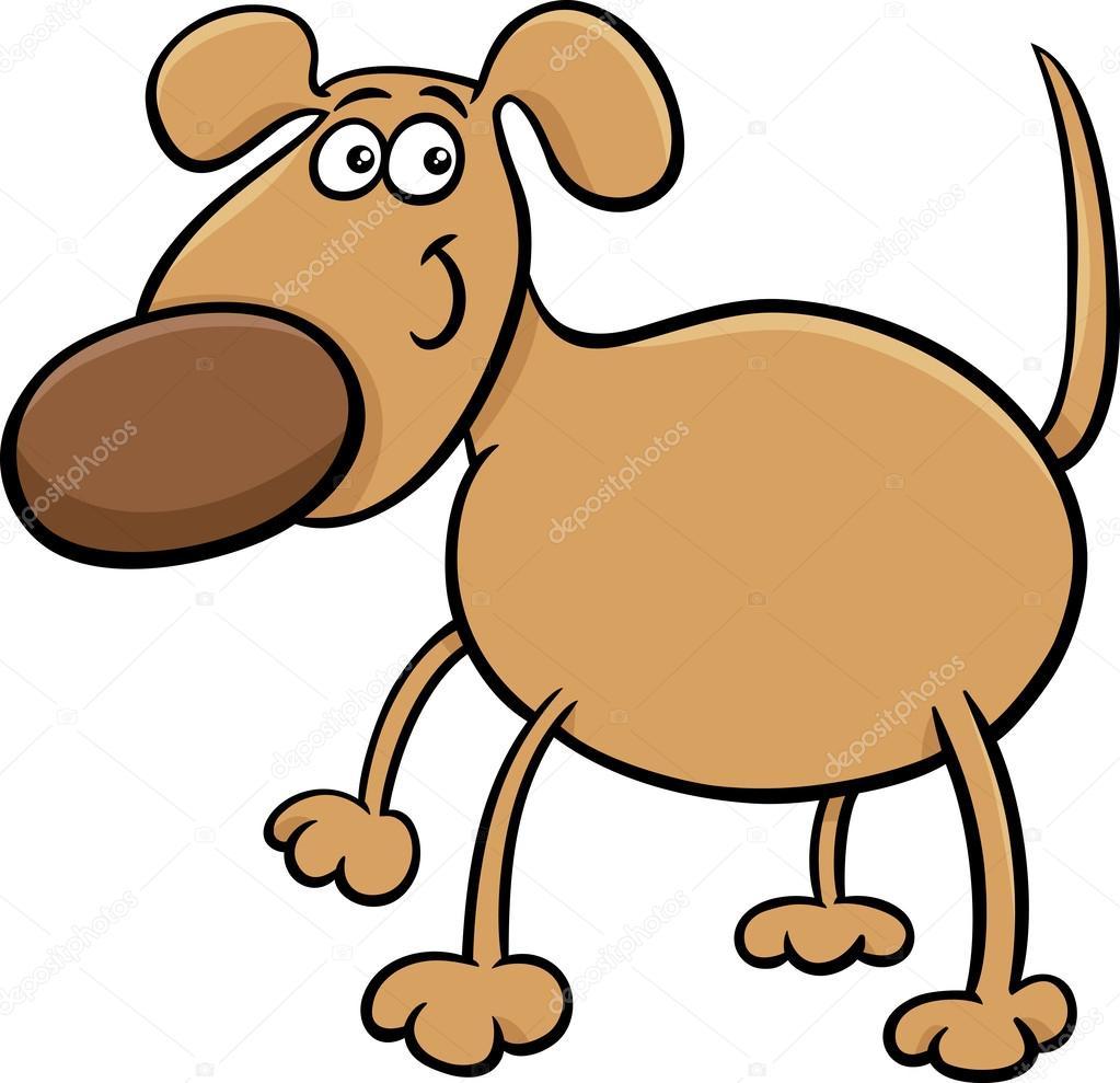 Sevimli Köpek Karakter Karikatür çizimi Stok Vektör Izakowski