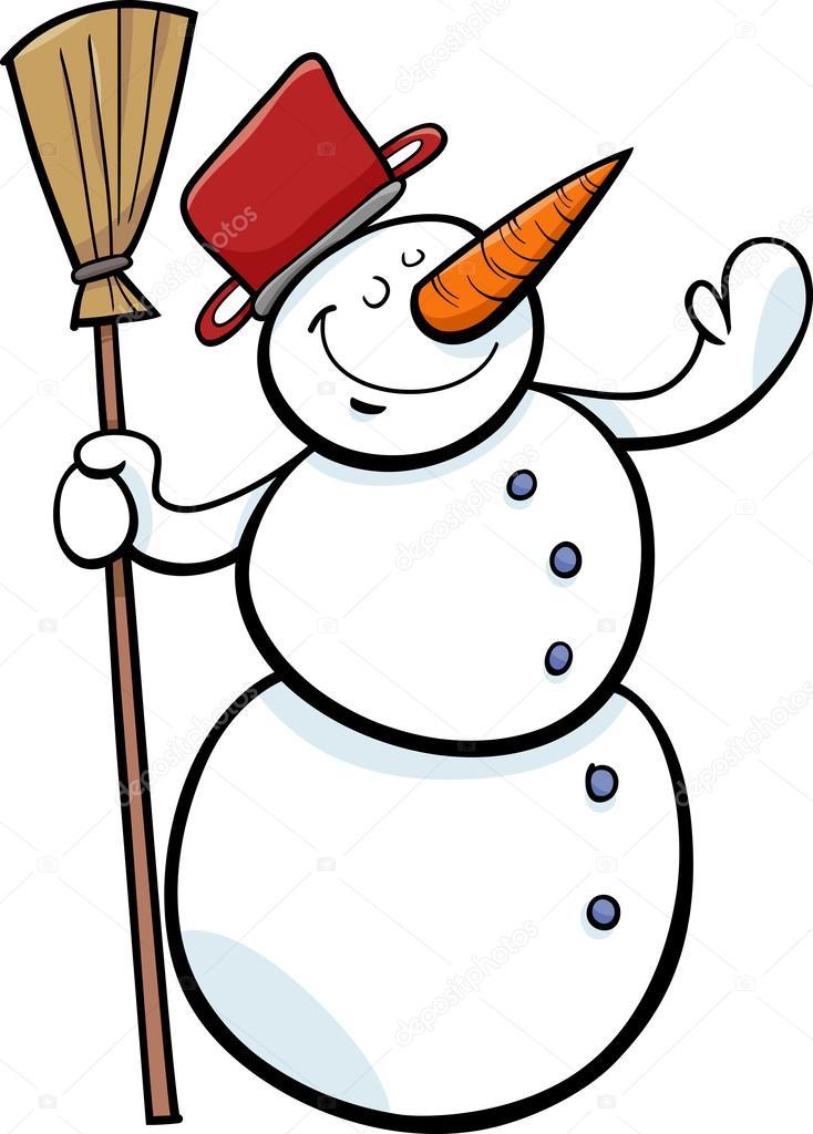 Výsledek obrázku pro sněhulák kreslený obrázek