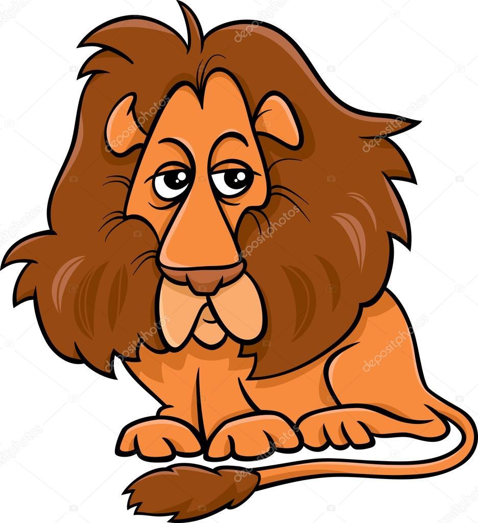 ライオン動物漫画イラスト — ストックベクター © izakowski #62714377