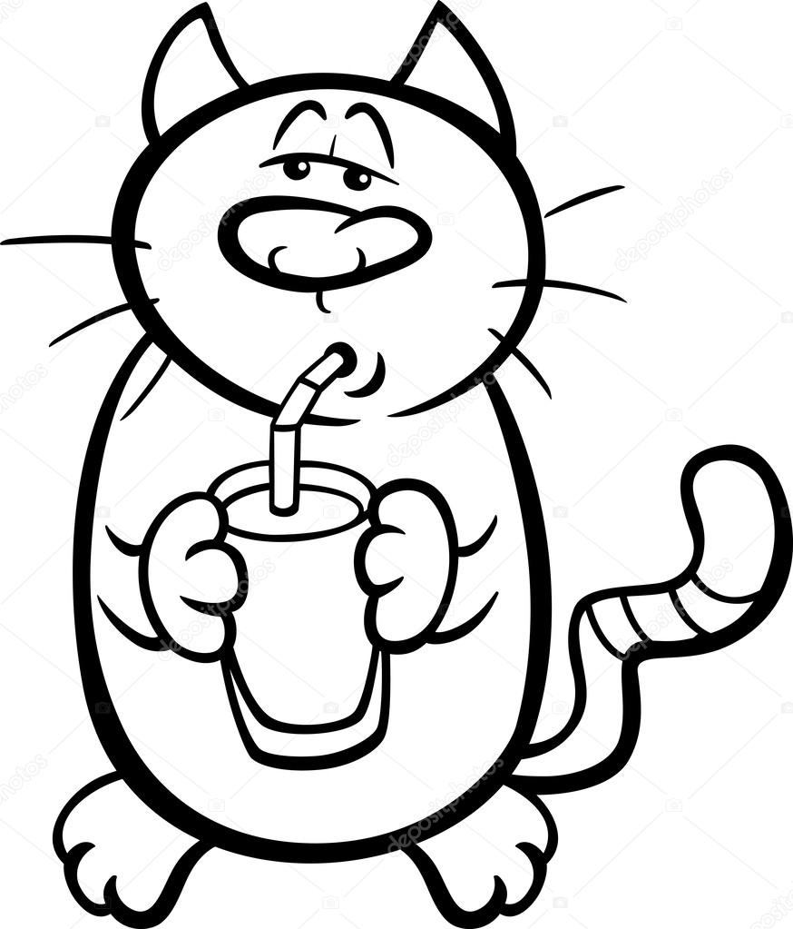 man drinking coloring pages - photo#13