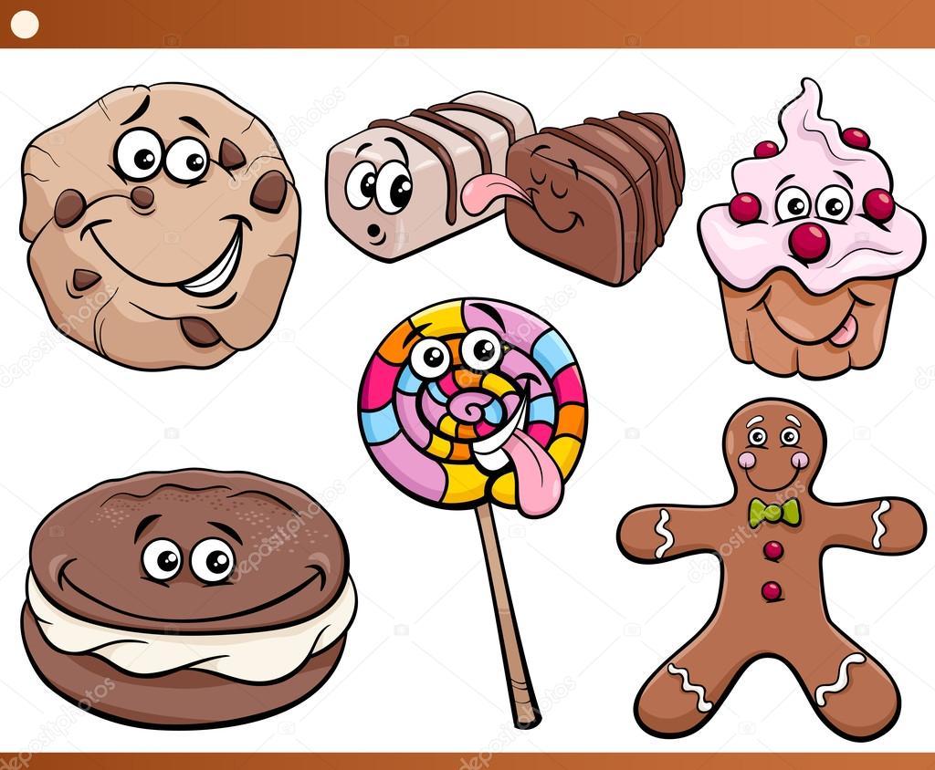 Bonbons et cookies mis en dessin anim image vectorielle izakowski 64507971 - Bonbon en dessin ...