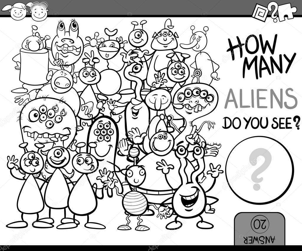 Sayfa Boyama Oyun çizgi Film Sayma Stok Vektör Izakowski 65073349