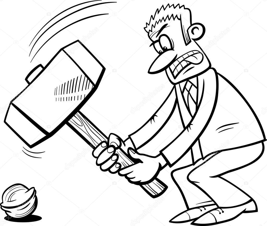Marteau de forgeron pour casser une noix image - Dessin de marteau ...