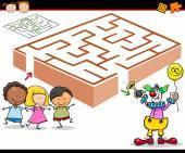 Fényképek rajzfilm labirintus vagy labirintus játék