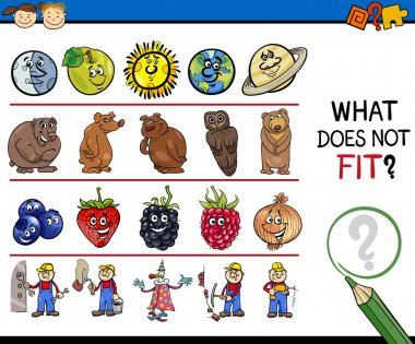 what does not fit game cartoon