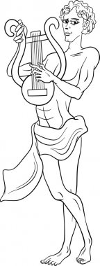 greek god apollo coloring page