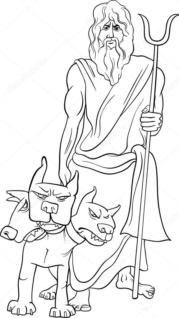 greek god hades coloring page — Stock Vector © izakowski #72257741